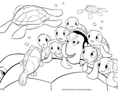 disneys finding nemo crush squirt telling stories coloring page