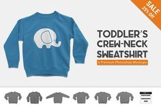 Toddler's Crew Neck Sweater Mockups by Photific on @creativemarket