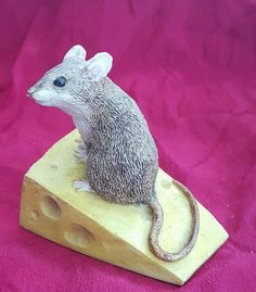 Mouse on cheese ornament oatlands guernsey handmade