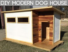 Free Insulated Dog House Plans New 20 the Best Free Diy Dog House Plans the Internet – modern courtyard house plans Large Dog House Plans, Duck House Plans, Free House Plans, Extra Large Dog House, Large Dogs, Small Dogs, Pallet Dog House, Wooden Dog House, Build A Dog House