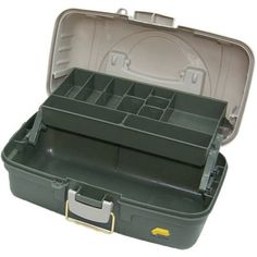 The Plano 6201 One-Tray Tackle Box features a cantilever-tray design that extends open for easy access to your fishing gear. The tray can have seven to 13 compa Fishing Hole, Fishing Tackle Box, Fishing Bait, Going Fishing, Walmart Usa, Dove Men Care, Fishing Equipment, Tray, Storage