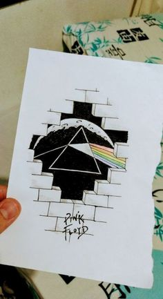 Wall Pink Floyd Dark Side IdeasYou can find Pink floyd and more on our website. Pencil Art Drawings, Art Drawings Sketches, Cute Drawings, Arte Pink Floyd, Pink Floyd Dark Side, Art Sketchbook, Doodle Art, Painting & Drawing, Graffiti