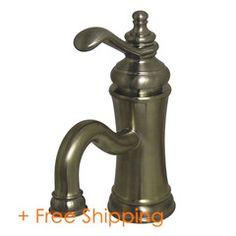 Kingston Brass Templeton Single Handle Single Hole Lavatory Faucet with Push Pop-up Satin Nickel FS7408TL