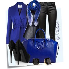 """WHY SO BLUE?"" by tinadhaliwal on Polyvore DRESSY LOOK"
