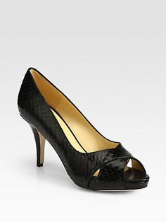 Kate Spade New York - Billie Snake-Print Leather Pumps - Saks.com