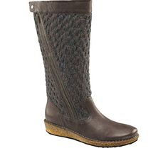 Women's Aetrex Amber Boot - Pavement Tumbled Leather/Cork with FREE Shipping & Exchanges. Keep your foot warm and comfortable with the Aetrex Amber Boot. This tall sweater boot has an