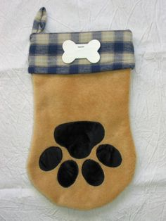 Christmas dog stocking pattern  Santa Paws by adelinescrafts, $9.00
