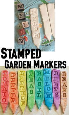 Stamped Garden Marke