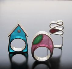 Silver + resin...pinned by ♥ wootandhammy.com, thoughtful jewelry.
