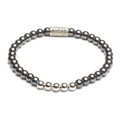 Rebel and Rose More Balls than Most Shiny Silver Armband RR-40027-S € 39,95