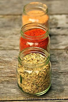 Cajun Dry Rub; Indian Spice Rub; Dried Herb Rub; Montreal Steak Seasoning; Spicy Jamaican Rub; BBQ; Poultry Spice; All-Purpose Blend; Salt Sub-Spice; Taco Seasoning; Chili Seasoning; All-Purpose Soup Seasoning; Popcorn Seasoning; Pumpkin Pie Spice & Bruschette/Italian Bread Herb Mix