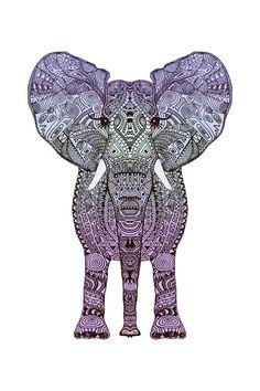 elephant tattoo... Love this!