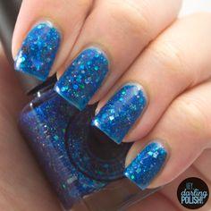 Squishy Face Polish - No Space & Time  #blue, #glitter, #glittercrelly, #nospaceandtime, #nails, #nailpolish, #polish, #indie, #indiepolish, #indienailpolish, #review, #swatches, #squishyfacepolish