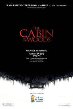Special Cinema Blend poster for an exclusive screening of The Cabin in the Woods!