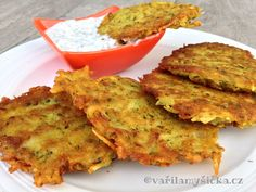 Potato pancakes with dill dip - Cuisine of Czechia