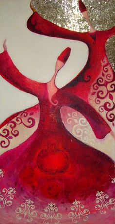 *Canan Berber, Turkish artist, b. Islamic Calligraphy, Calligraphy Art, Art Arabe, Whirling Dervish, Iranian Art, Turkish Art, Arabic Art, Colorful Pictures, Islamic Art