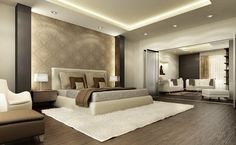 Want to create beautiful home and looking for decorating ideas? Then get interior desing tips and ways to decorate beautiful house. Luxury Bedroom Design, Master Bedroom Interior, Modern Master Bedroom, Contemporary Bedroom, Modern Interior Design, Master Bedrooms, Bedroom Simple, Master Room, Bedroom Suites