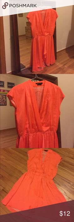 BcBg Max Azaria Dress Size large and orange, an excellent spring time dress to warm up the night! BCBGMaxAzria Dresses Midi
