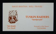 In the epic battle of Jedi vs. Sith, it never hurts to wield a trusty…business card? A tongue-in-cheek collection of Star Wars business cards has popped up on Tusken Raider, Mary Sue, Original Trilogy, The Force Is Strong, Star Wars Humor, Love Stars, Star Wars Characters, Star Wars Art, Far Away