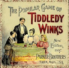 The Popular Game of Tiddley Winks, New 1897 Edition. #vintage #Victorian #games