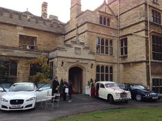 #Vintage #wedding cars outside The Old Palace, Lincoln. #BailgateWed