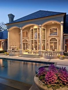 How would you feel about lounging in this Gatsby like back yard?
