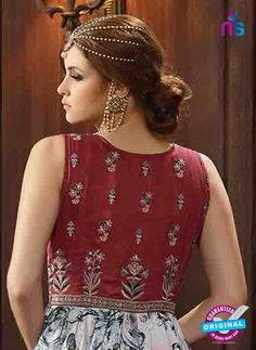 AZ 3318 Maroon and Grey Banglori Silk Fancy Designer Gawn