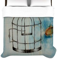 Kess InHouse Brittany Guarino Bird Cage 88 by 104-Inch Duvet Cover, King by Kess InHouse, http://www.amazon.com/dp/B00DYROJAS/ref=cm_sw_r_pi_dp_tKiesb1FPQ1A7