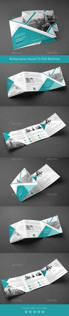 Corporate Tri-fold Square Brochure Template PSD. Download here: http://graphicriver.net/item/corporate-trifold-square-brochure-02/15403391?ref=ksioks