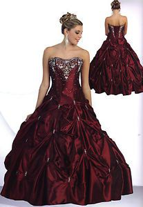 8 Color Quinceanera Ball Gown Dress Prom Evening Pageant Party Gala Formal 4-20