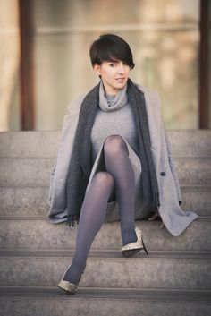 1000+ images about Grey Tights on Pinterest