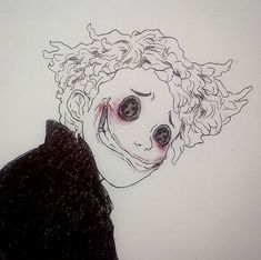 Other Wybie from Coraline Creepy Drawings, Dark Art Drawings, Creepy Art, Drawing Sketches, Cool Drawings, Drawing Ideas, Creepy Sketches, Dark Art Paintings, Random Drawings