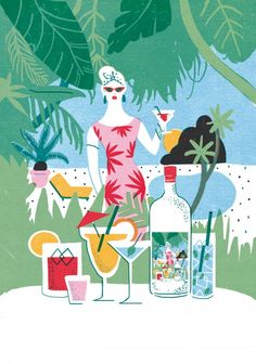 Never ending Summer 4 by irene rinaldi, via Behance People Illustration, Love Illustration, Character Illustration, Graphic Design Illustration, Digital Illustration, Irene, Photoshop, Art For Art Sake, Illustrations And Posters