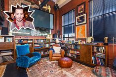 Johnny Depp - The Coolest Celebrity Living Rooms - Photos