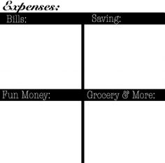 the money saving list