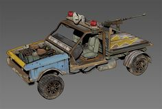 Rust - Radtown Buildings by Howard Schechtman on ArtStation. Post Apocalypse, Character Concept, Concept Art, Zombies, Fallout Rpg, Fallout New Vegas, Shadowrun, Armored Vehicles, Texture Art