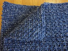 A super fast men's scarf of which I made several for a local charity.