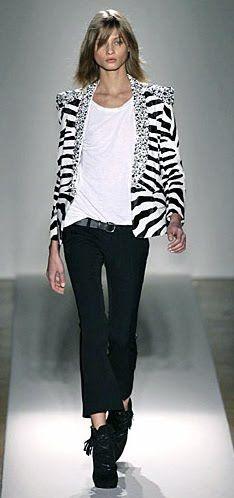 Everyday to runway... it's zebra!  <3