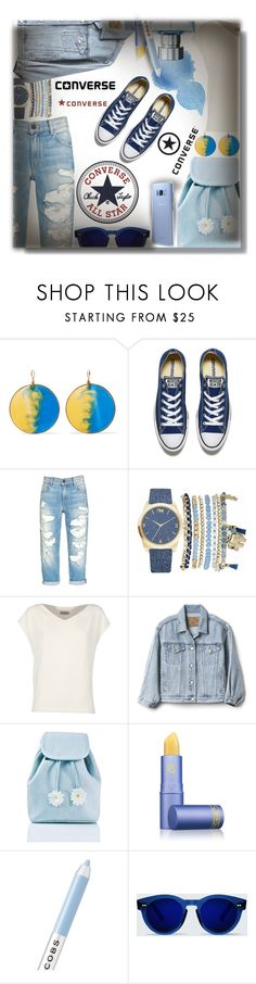 """""""Converse"""" by sarahguo ❤ liked on Polyvore featuring Missoni, Converse, Mixit, Alberto Biani, Gap, Sugarbaby, Lipstick Queen, Fraiche, Marc Jacobs and Samsung"""