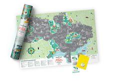 Travel Map Моя Рідна Україна - 1DEA.me