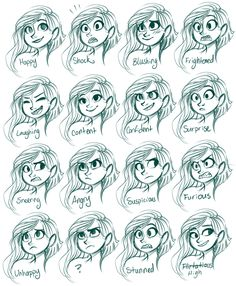 Vera Expressions by sharpie91.deviantart.com on @deviantART ✤ || CHARACTER DESIGN REFERENCES