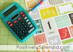Personalized Calculator with free printable - teacher appreciation