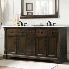 1000 ideas about antique white furniture on pinterest - Antique white double sink bathroom vanities ...