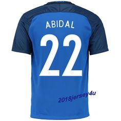 Eric Abidal 22 UEFA Euro 2016 France Home Jersey