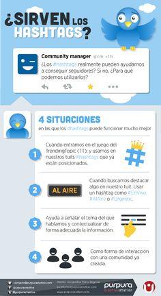 ¿Sirven los hashtags? #infografia