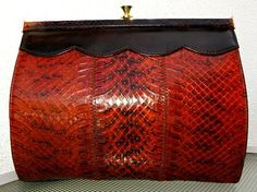 Snakeskin Leather Clutch Hand Bag