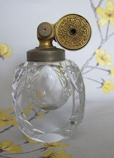 Vintage MARCEL FRANCK ESCALE crystal glass PERFUME BOTTLE / ATOMIZER. France. in Collectables, Bottles/ Pots, Perfume | eBay