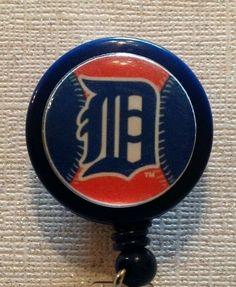 Retractable Badge Reel Name Tag ID Pull Clip Holder Lanyard Atlanta Braves Gift