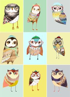 owl chart by Ashley Percival Art And Illustration, Illustrations, Owl Art, Bird Art, Owl Always Love You, Cute Owl, Woodland Creatures, Bird Feathers, Graphic