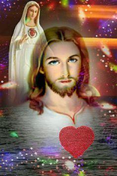 المسيح و السيدة مريم عليهما السلام       ❤️🌹❤️🌹❤️. Jesus And Mary Pictures, Catholic Pictures, Pictures Of Jesus Christ, Angel Pictures, Mary Jesus Mother, Blessed Mother Mary, Mary And Jesus, Jesus Is Lord, Mary Magdalene And Jesus